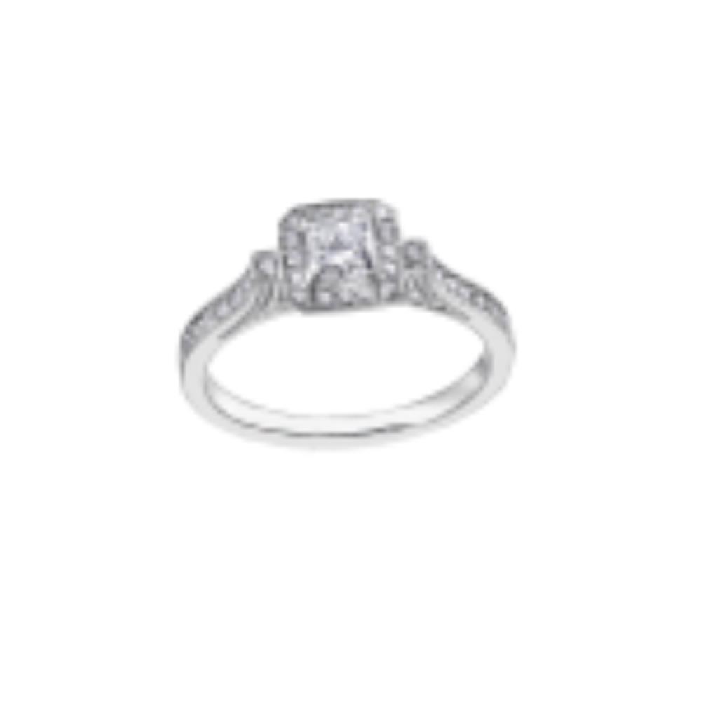 Bague de fiançailles à diamants